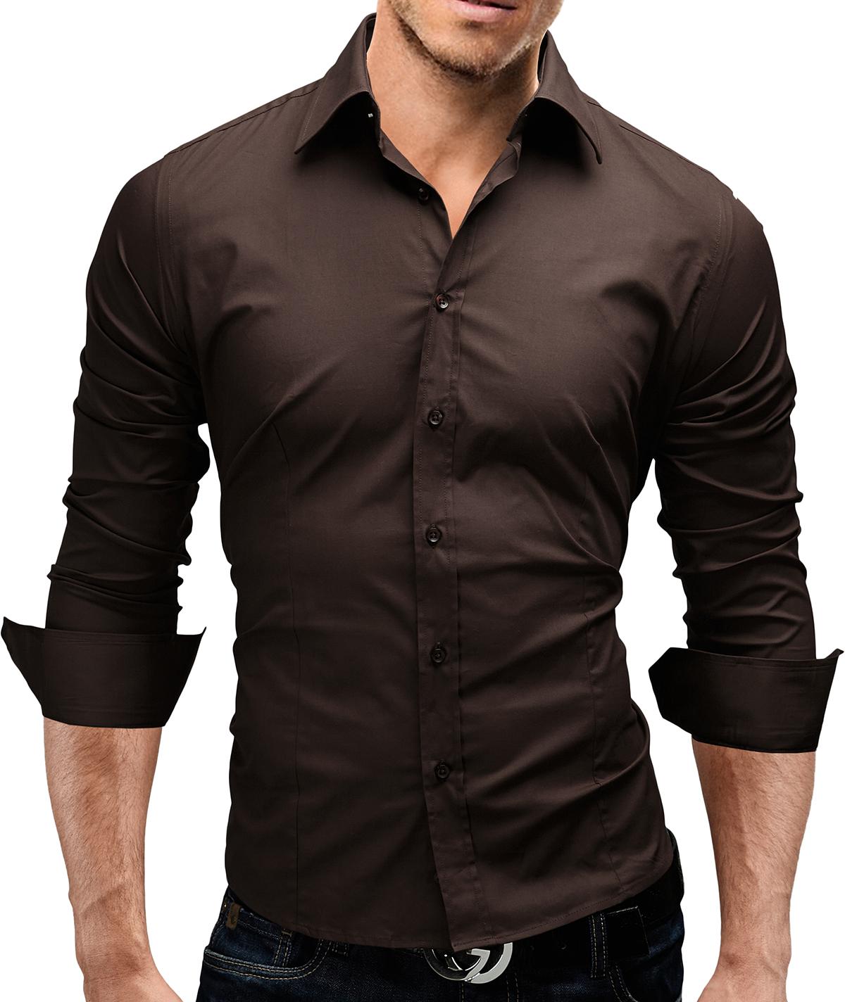 MERISH Herren Hemd 6 MODELLE S-XXL Slim Fit Neu T-Shirt Polo Style Hemd WOW
