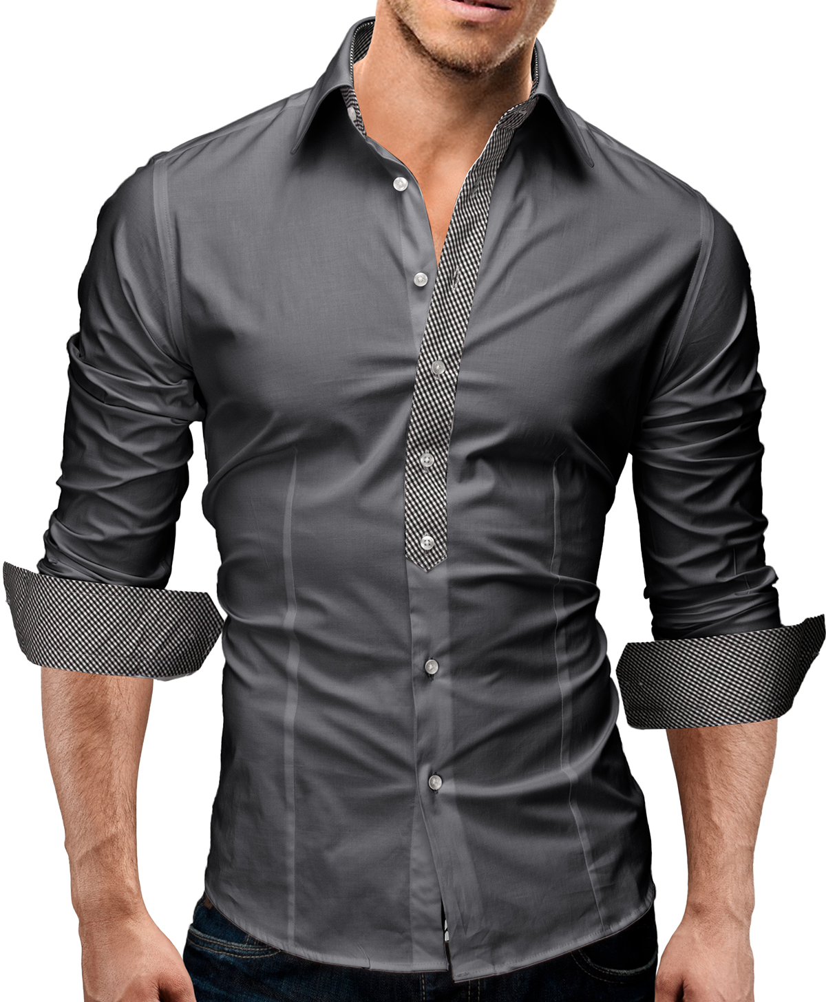 details about merish herren hemd 6 modelle s xxl slim fit neu t shirt. Black Bedroom Furniture Sets. Home Design Ideas