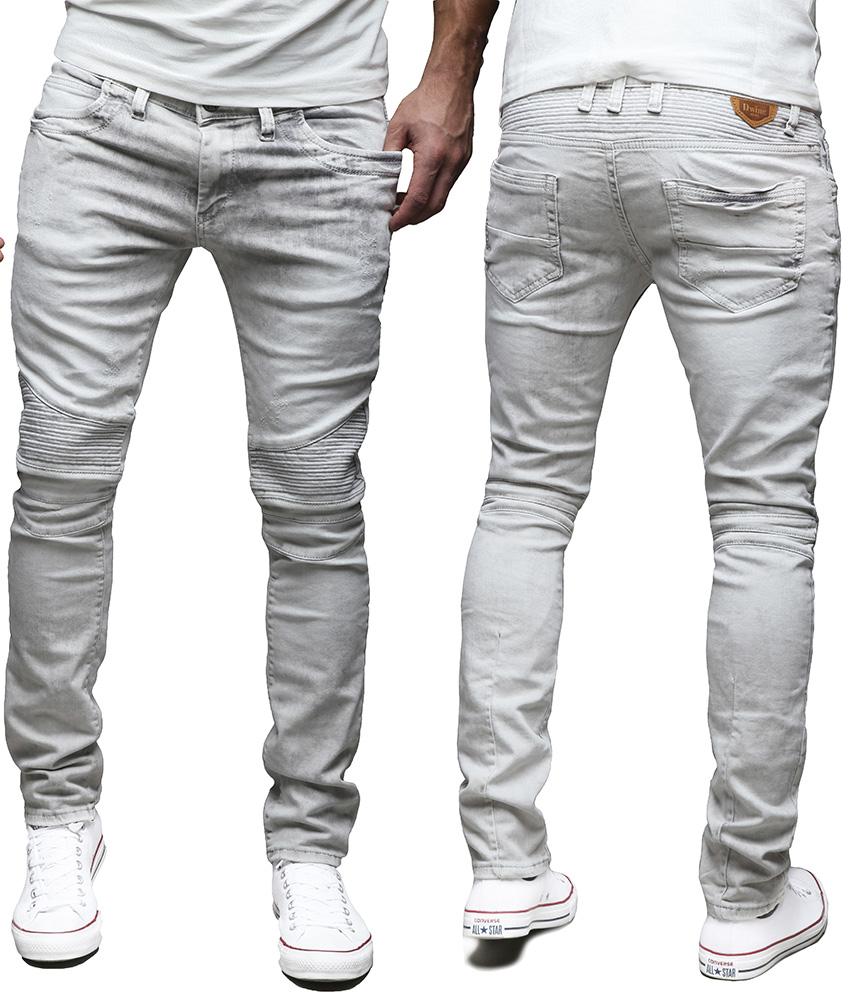 merish herren jeanshose slim fit chino jeans hose biker trend neu. Black Bedroom Furniture Sets. Home Design Ideas
