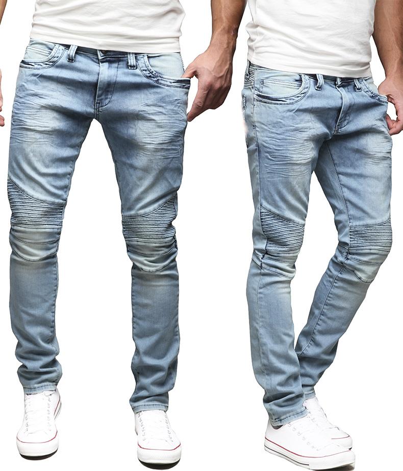 AMICA by MERISH Herren Jeanshose Chino SLIM FIT Jeans Hose Neu Style Trend  MIX f93171f8e418