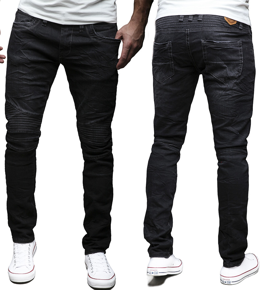 San Francisco a0696 2fd35 EightyFive Herren Jeans Denim Hose Slim Fit Destroyed ...
