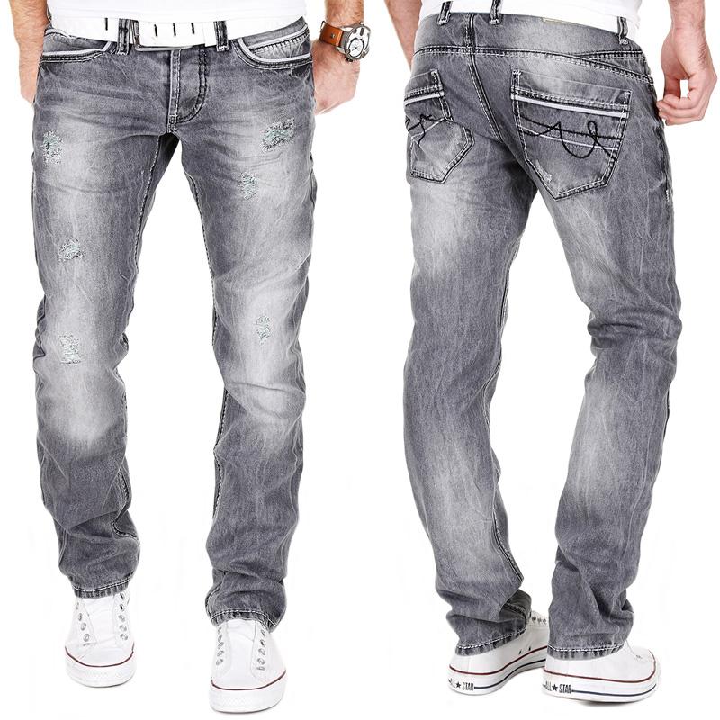 Jeans grau straight herren