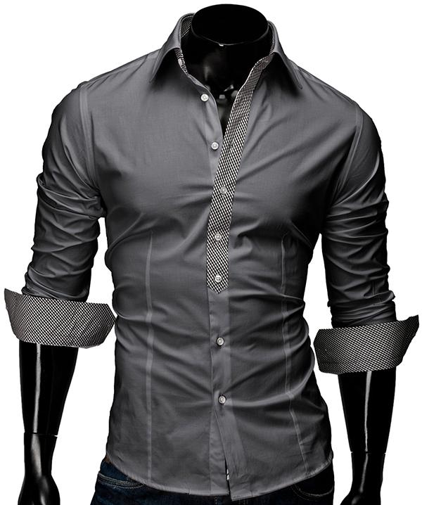 merish herren hemd slim fit 5 farben karo kontrast neu t. Black Bedroom Furniture Sets. Home Design Ideas