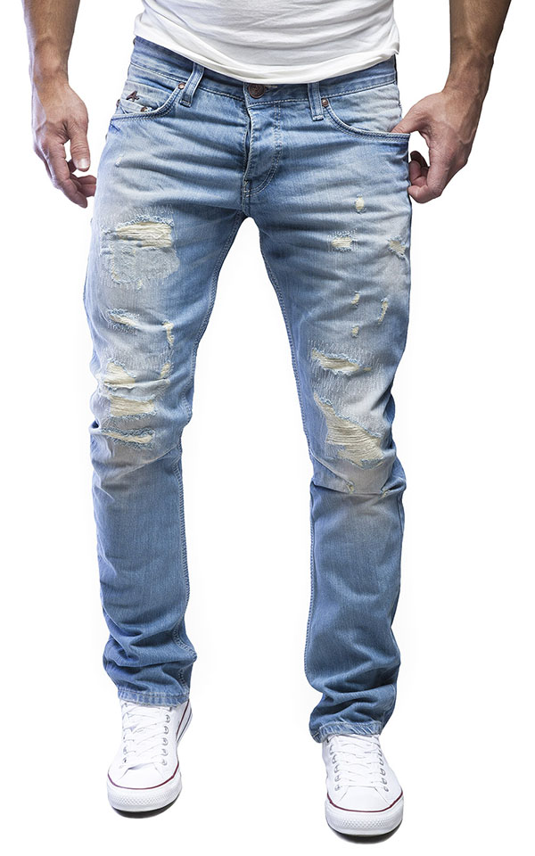 merish herren amica jeanshose chino destroyed blue jeans. Black Bedroom Furniture Sets. Home Design Ideas