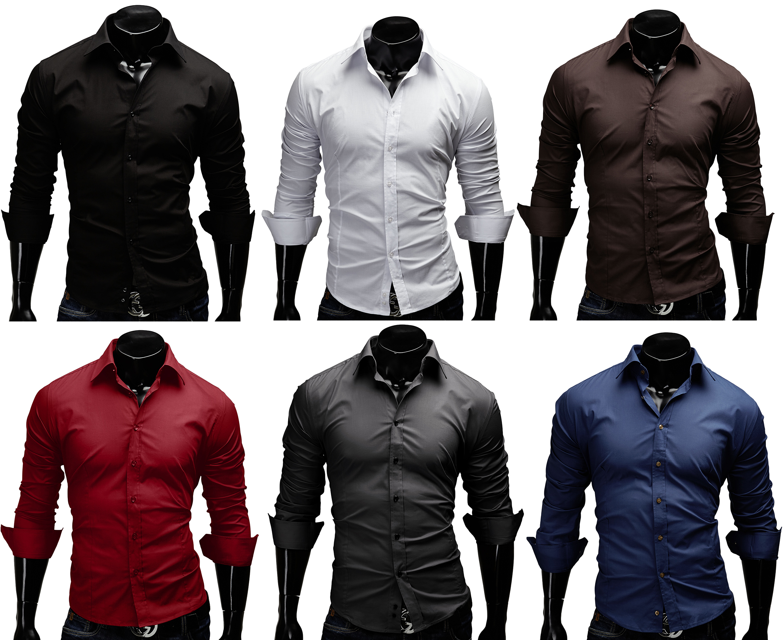 merish herren hemd basic hemd 14 farben slim fit neu polo t shirt hemd. Black Bedroom Furniture Sets. Home Design Ideas